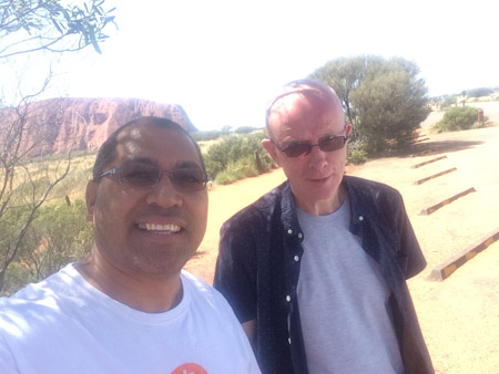 Fr Heinz with Raass at Uluru 450